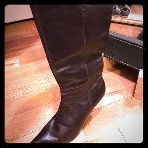 Nine West Brown knee high boots size 7 1/2.